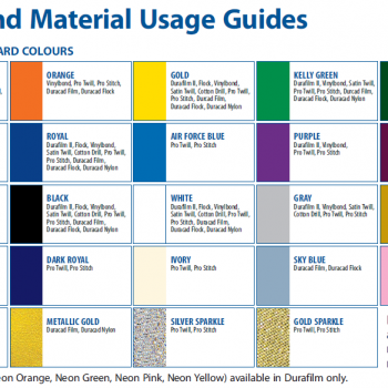 Color and Material Usage Guide