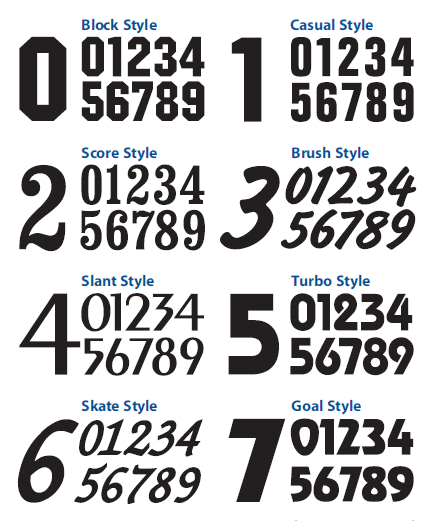 Custom Cut Numbers Font